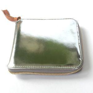Clare V. silver zip wallet new